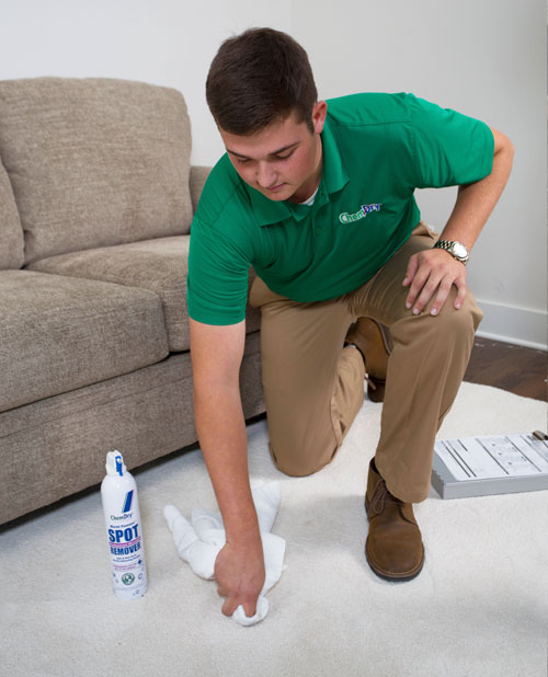 A1 Garden State Chem-Dry's technician cleans impossible stain from carpet in New Jersey