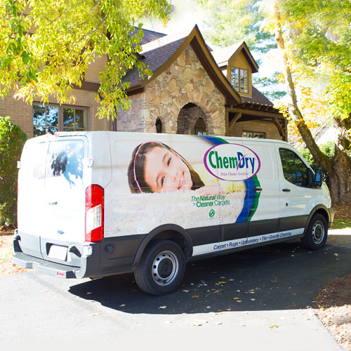 Chem-Dry van visits and cleans a home in Marlboro NJ